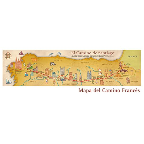 Map of the French Camino de Santiago