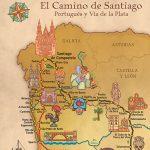 Mapa del Camino de Santiago Primitivo y del Norte
