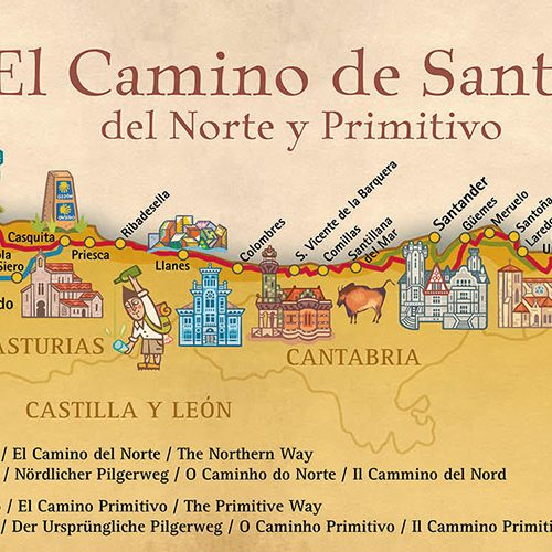 Map of the Camino de Santiago del Norte and Primitive