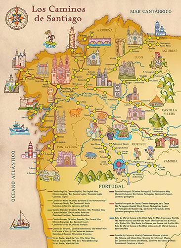Nuevo Mapa de los Caminos de Santiago (II)