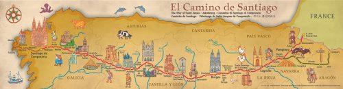 Cartes du Camino de Santiago Français